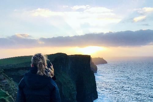 Looking into the sun in Ireland. Photo courtesy of Jessica Winterringer.
